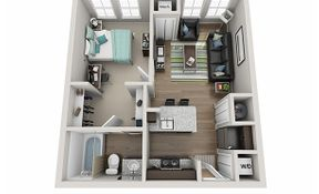 1 Bedroom, 1 Bathroom - A1