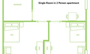 Single Room in 2PP Apartment (Shared Bathroom)