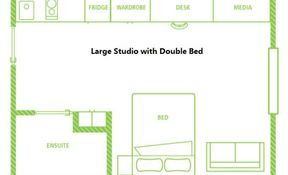 Large Studio Double Bed