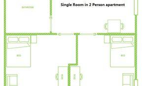 Single Ensuite Room 2 Person Apartment