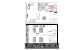 2 Bedroom-Extra Large 4 Beds