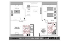 2 Bedroom- Large 3 Beds