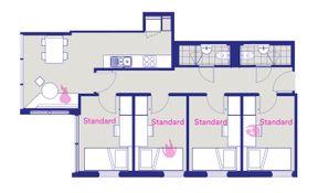 4 Bedroom Apartment - Standard Room