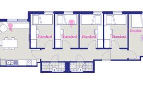 5 Bedroom Apartment - Double Room