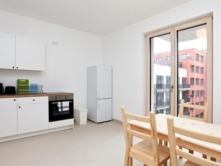 Charming single bedroom with balcony, in Ostend