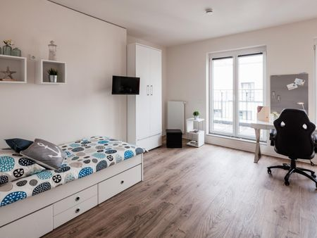 Spacious studio, in a residence near Wandsbeker Chaussee transport stop