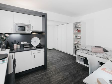 Modern studio L Silver, in a residence near Park Sentmaring