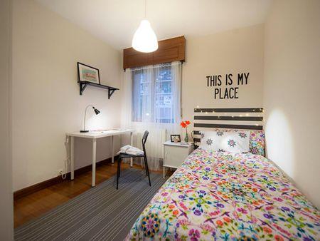 Pleasant single bedroom in a student flat, near the Uribarri train station