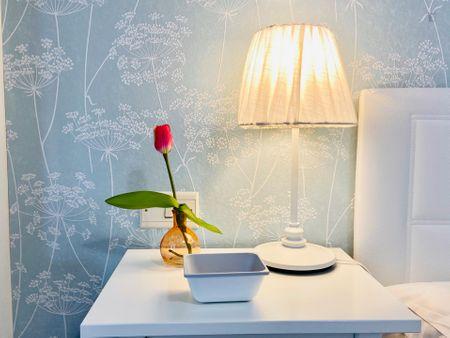 Tasteful single bedroom in a student flat, in Abando