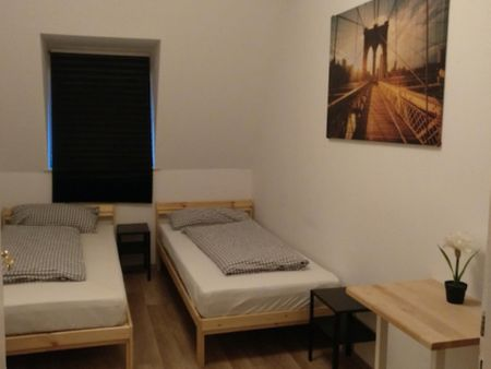 Amazing twin bedroom in a 3-bedroom apartment in Nürnberg Hummelstein, near Hummelsteiner Park