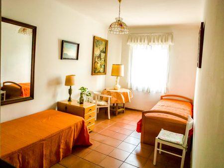Sunny twin bedroom in a flat, in El Viso