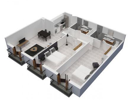 Apartamento com 2 quartos, com área exterior