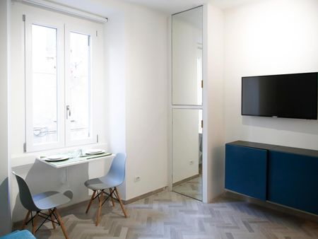Bright studio flat, in Porta Romana