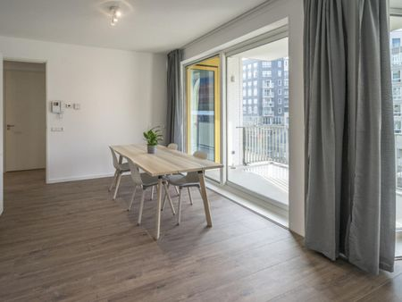 Comfy double bedroom in a 3-bedroom apartment near Diemen-Zuid metro station