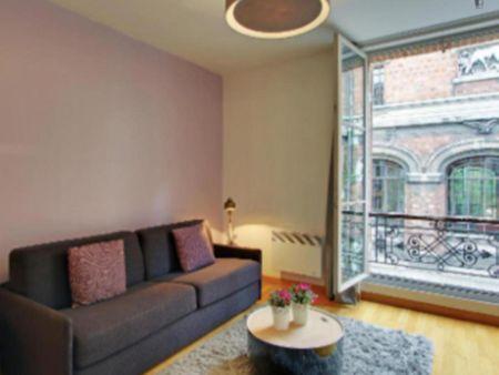 Modern 1-bedroom apartment, in a hotel near Jardin de l'école de botanique