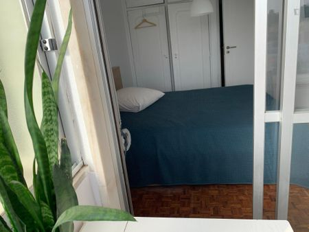 Double bedroom in a homely 2-bedroom flat, in Ajuda