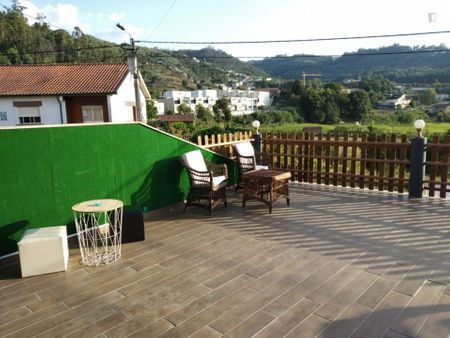 Studio with an outdoor area, in Areias de Baixo