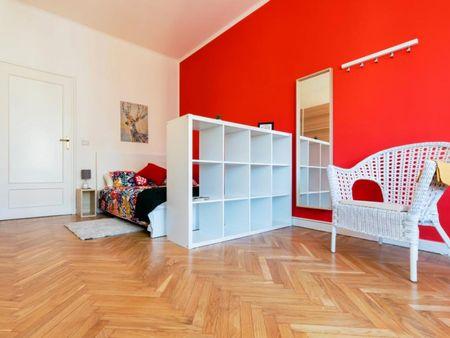 Graceful double bedroom in the central Borgata Rosa-Sassi area