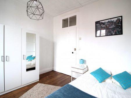 Bright double bedroom near Parc Sainte-Marie