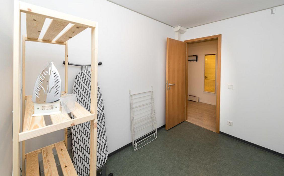 Modern bedroom in a 2-bedroom apartment