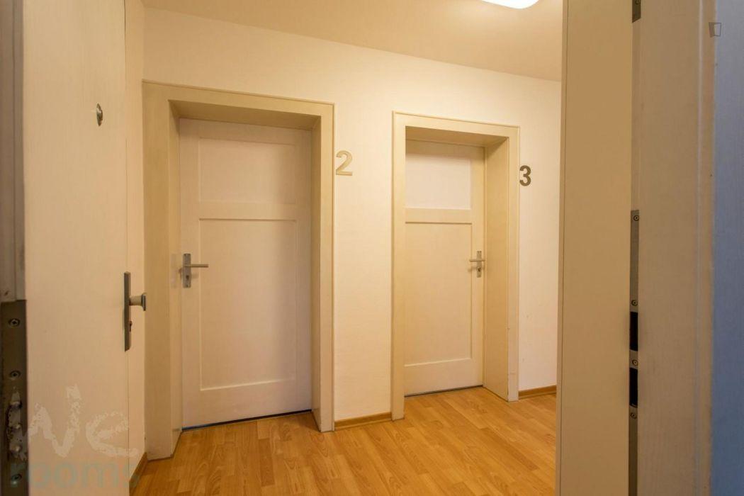 Amazing single-bedroom in a 3-bedroom apartment in Frankfurt-Rödelheim, near an S-Bahn train station