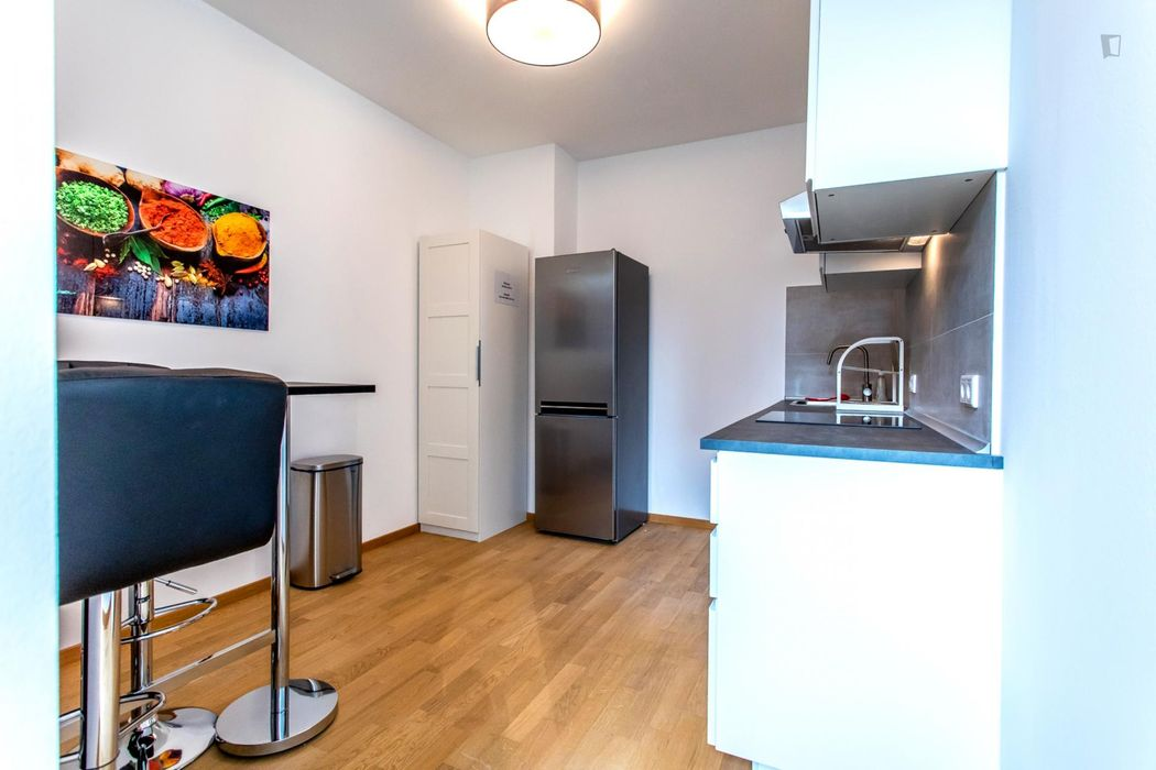 Nice single-bedroom in a 4-bedroom apartment in Frankfurt, near the central train station