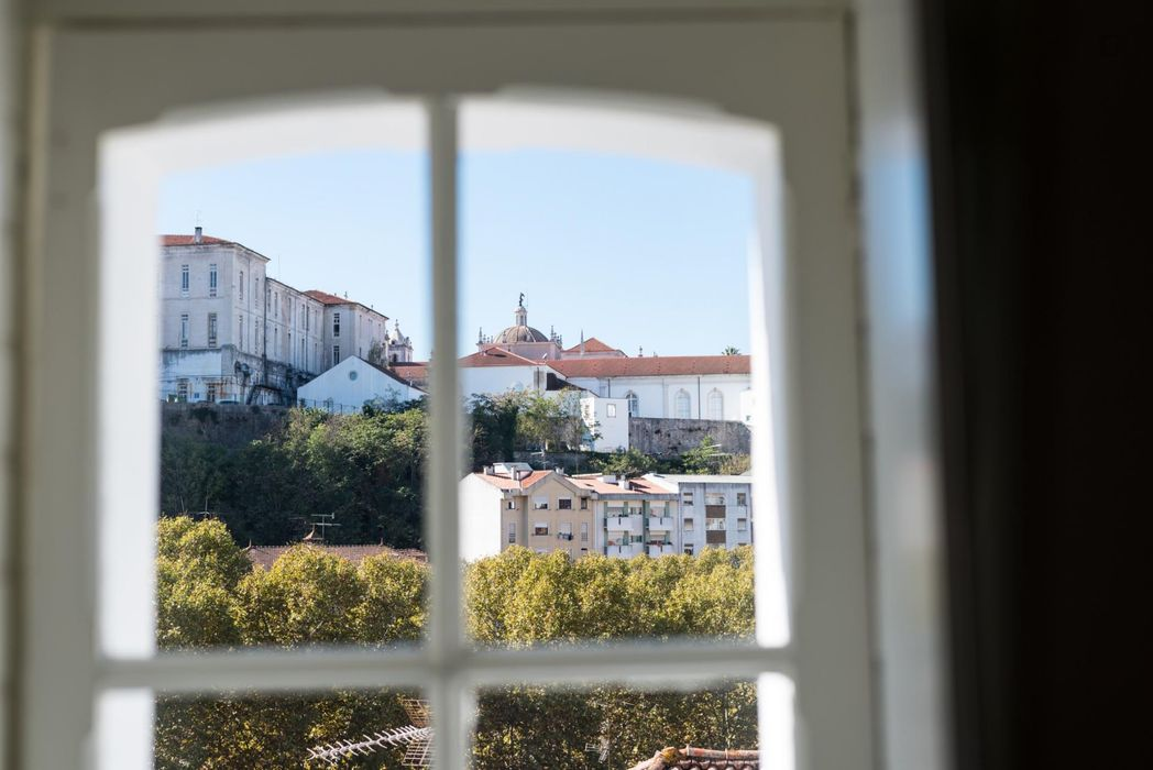 Sunny and modern 1-bedroom apartment next to University of Coimbra