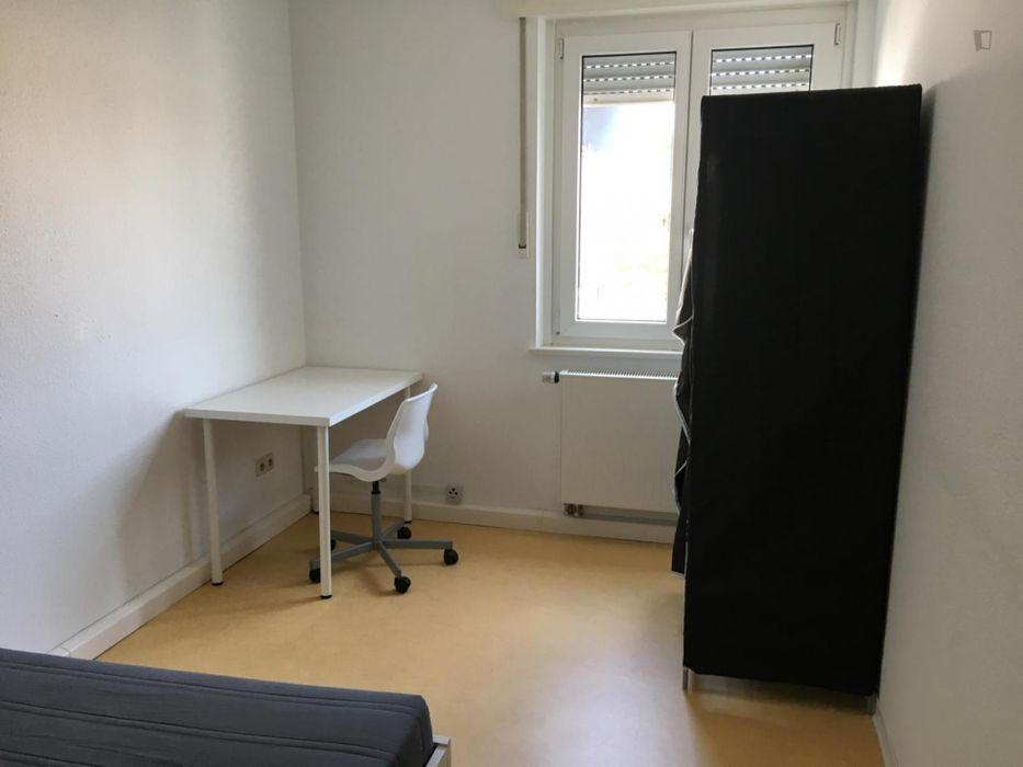 Sunny single bedroom in shared flat in Stuttgart, near Schule bus stop