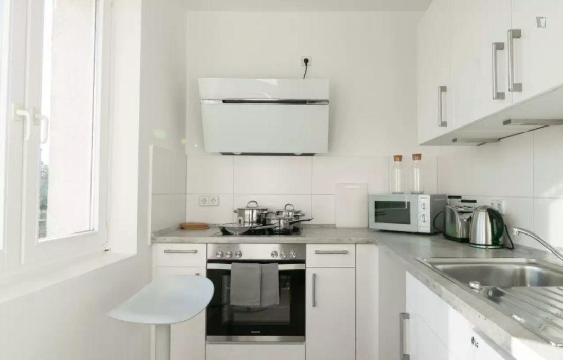 Charming single bedroom in a 4-bedroom apartment in Aldershof