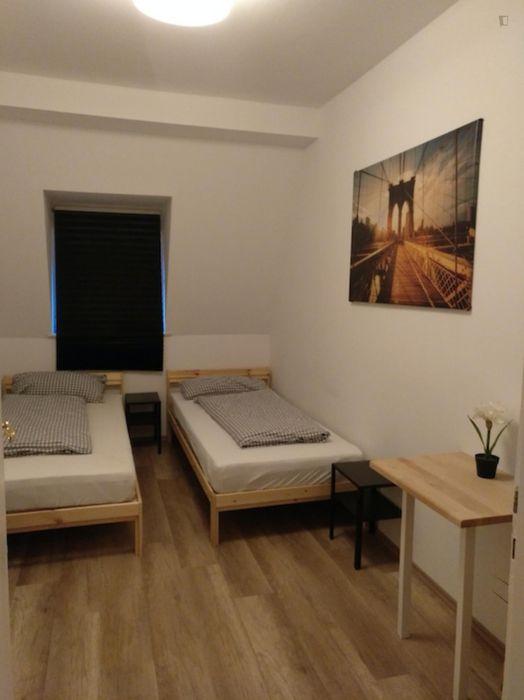 Amazing twin bedroom in a 3-bedroom apartment in Nürnberg Hummelstein, near Hummelsteiner Park