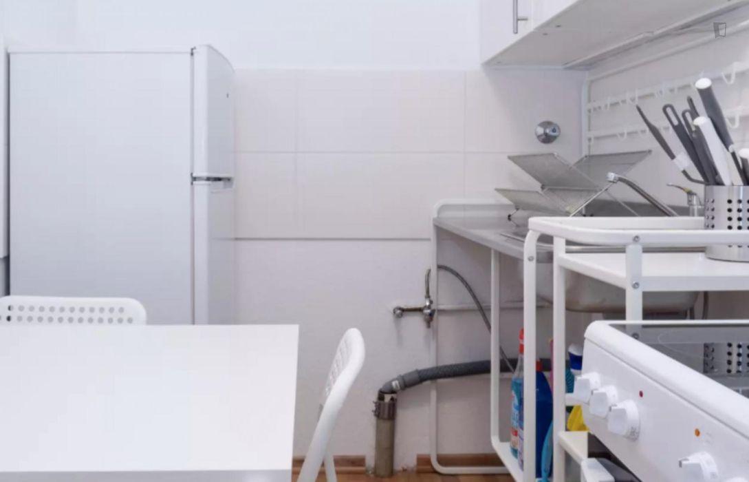 Tasteful single bedroom in a student flat, in Kreuzberg