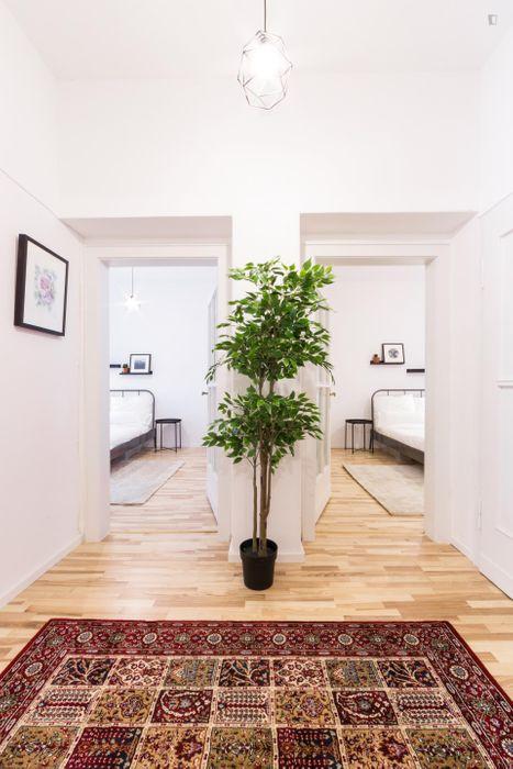 Modern single bedroom in a 2-bedroom flat in Friedrichshain