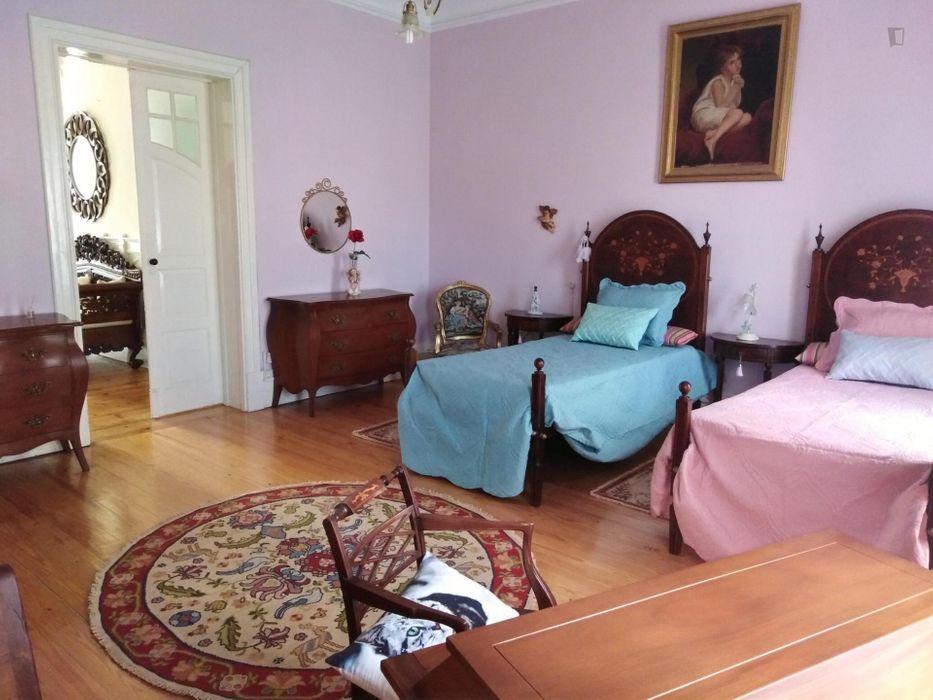 Spacious twin bedroom in Oporto