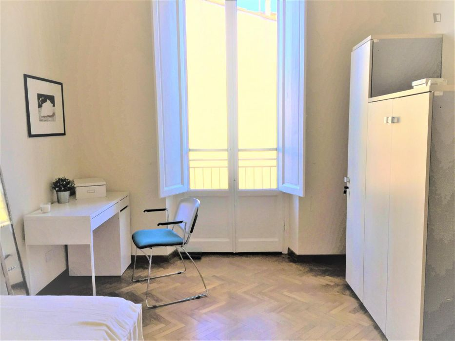 Pleasant single bedroom near Firenze Campo di Marte transport station