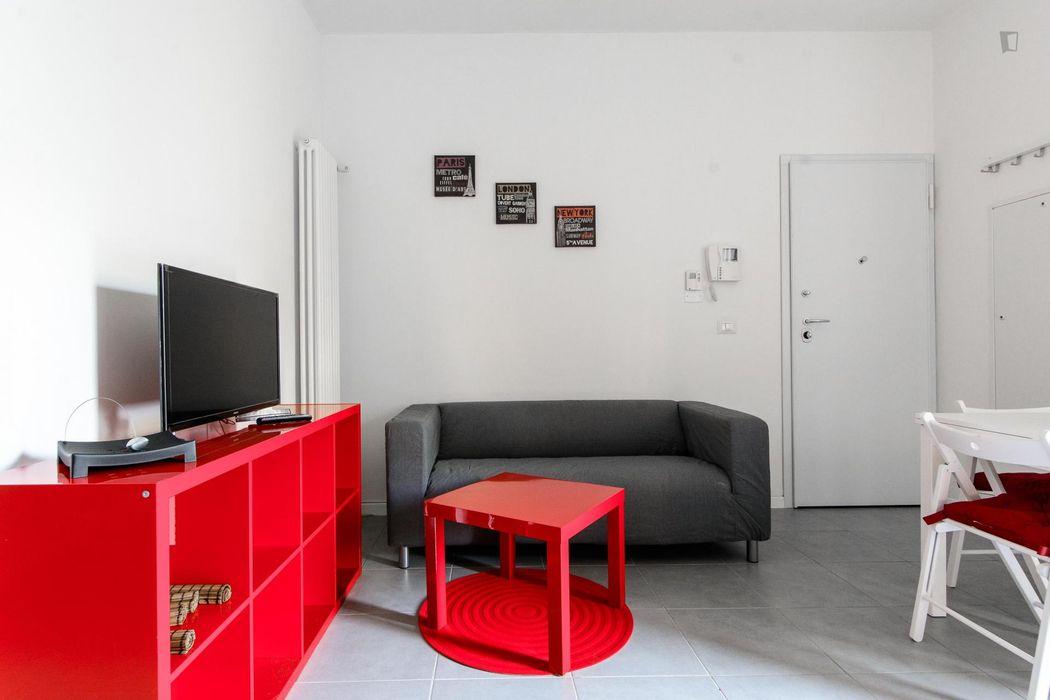 Bright bedroom in San Donato