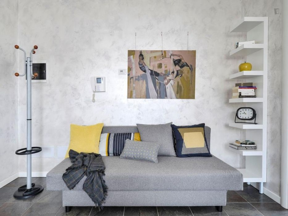 Bright and modern studio in Mazzini