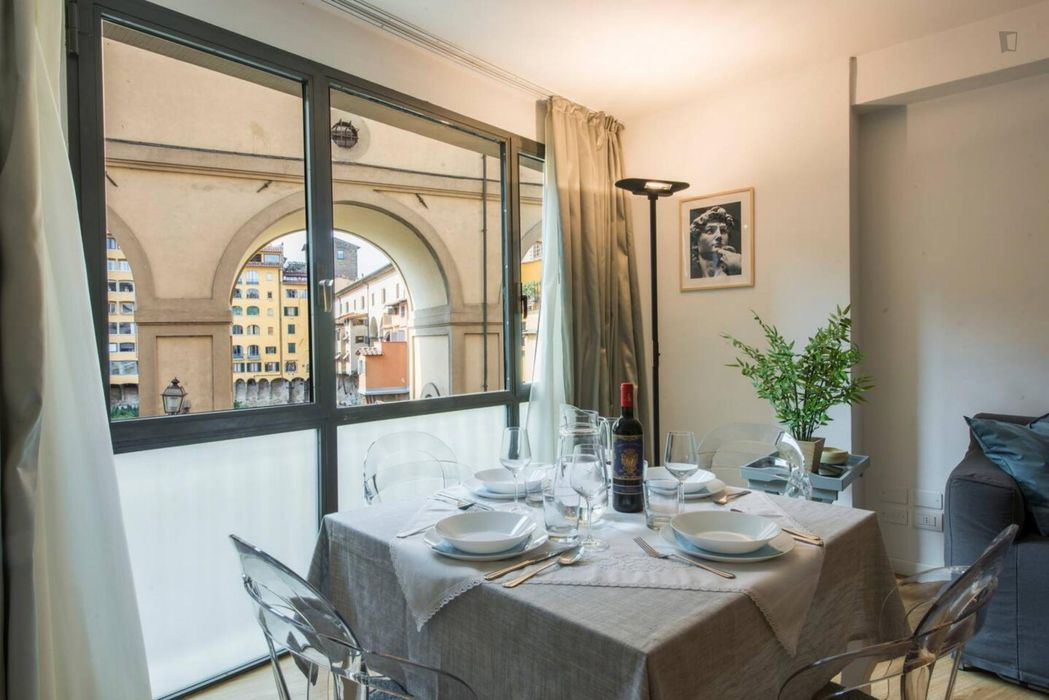 Amazing 1-bedroom apartment with outdoor area in Florence city centre