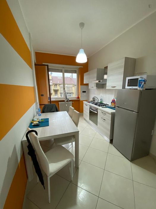 Bright double bedroom well connected to Politecnico