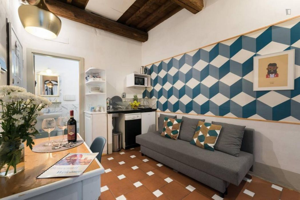 Neat 1-bedroom apartment in Florence city centre