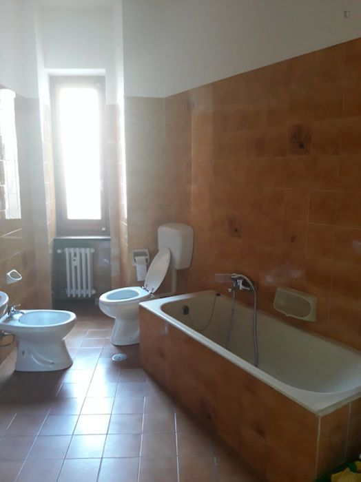 Huge double bedroom with balcony well connected to Politecnico di Torino
