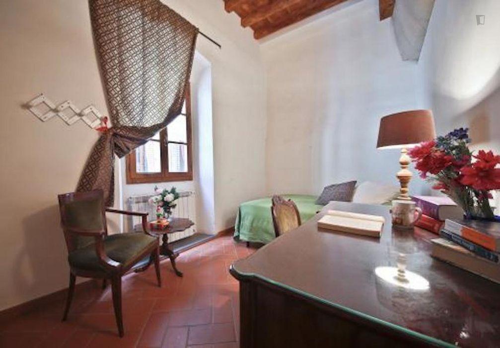Central luminous 2-bedroom apartment, near the Università Popolare di Firenze