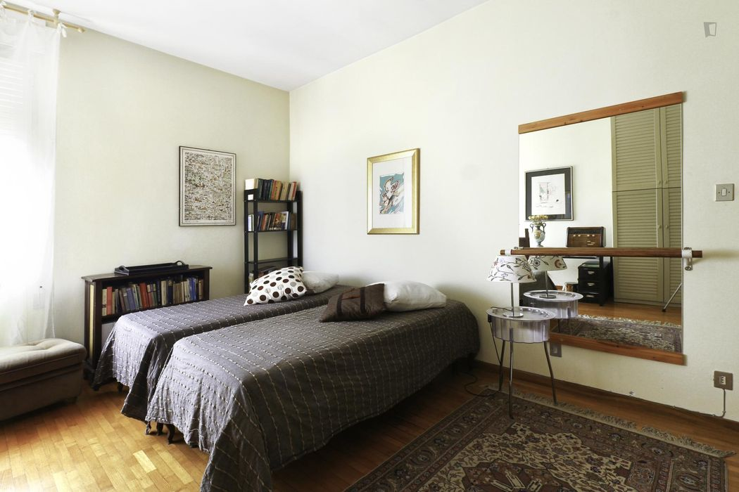 Quiet room for single use and sustainable guests, in the Mazzini area