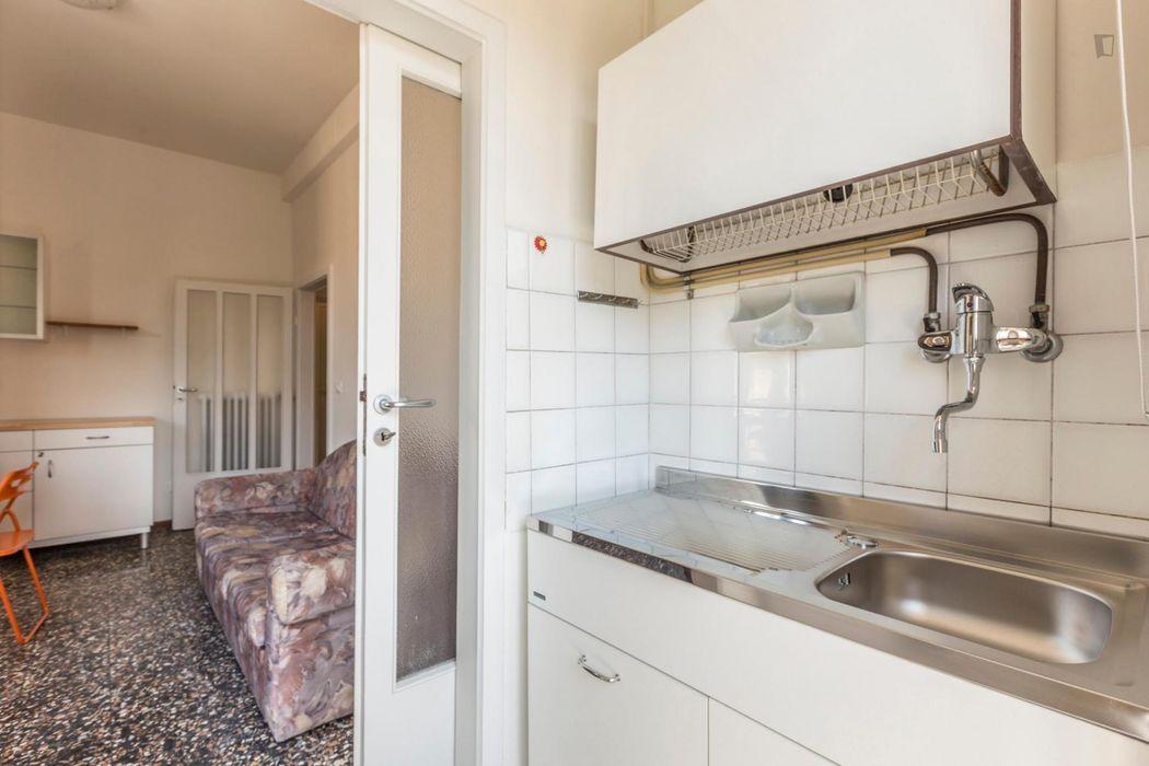 Bed in a twin bedroom in Mazzini neighbourhood