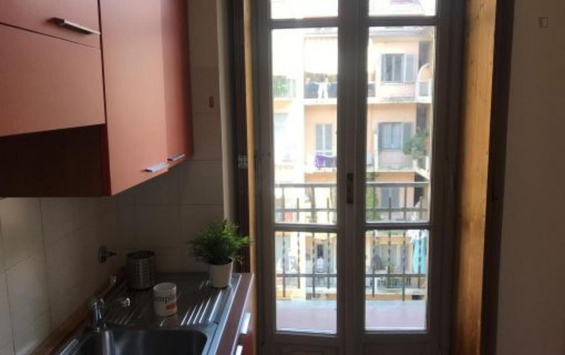 Nice bed in a twin bedroom close to Politecnico