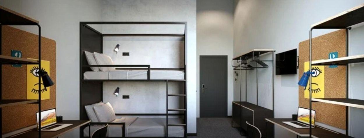 Modern twin bedroom in a nice residence near Tiarini bus stop