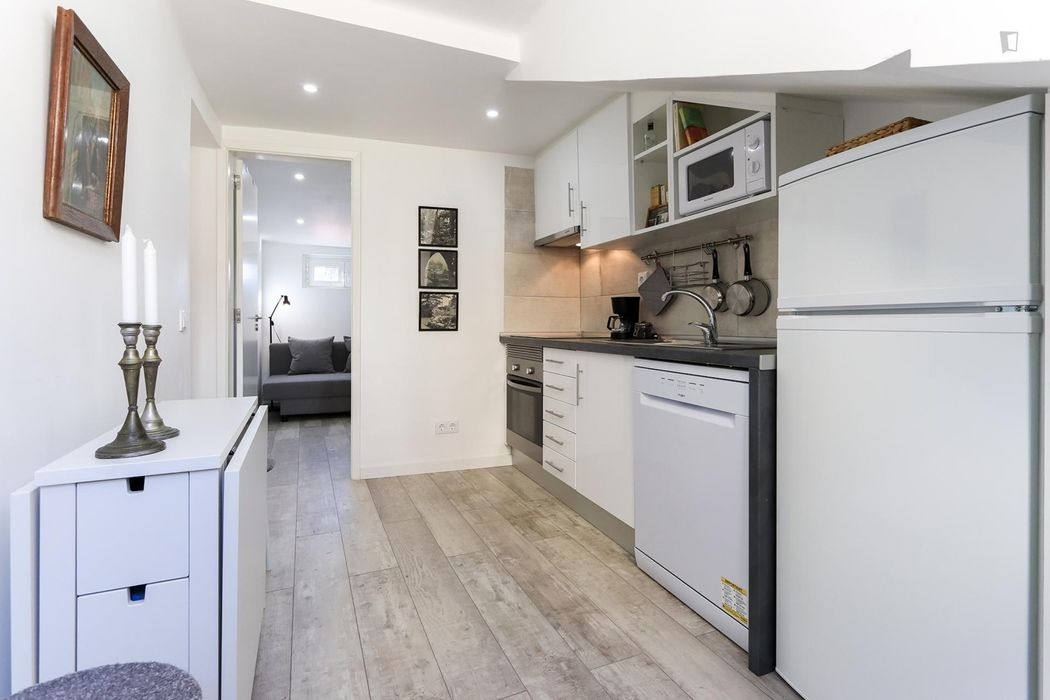 Modern and comfy 1-bedroom apartment close to Santos train station
