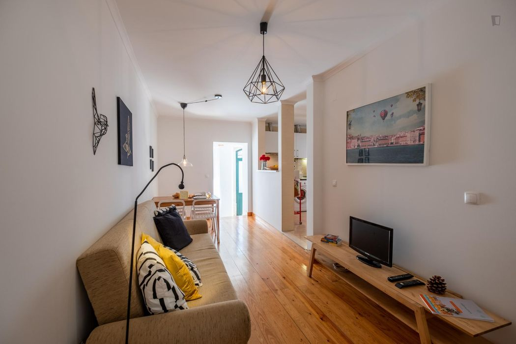 Cool 1-bedroom apartment near Miradouro de Santa Luzia
