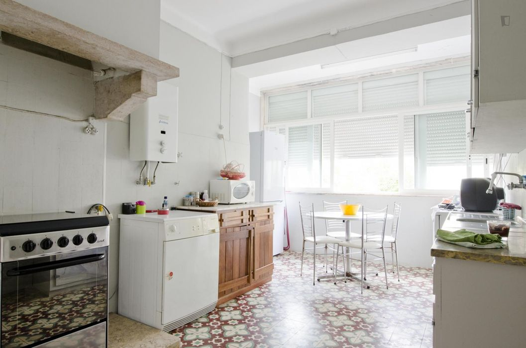 Cosy single bedroom in a 3-bedroom apartment, in well-connected Alvalade