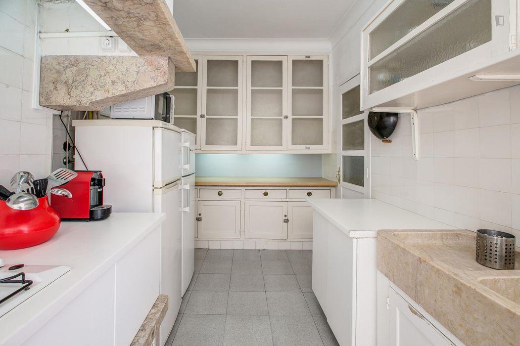 Double bedroom in appealing 6-bedroom apartment