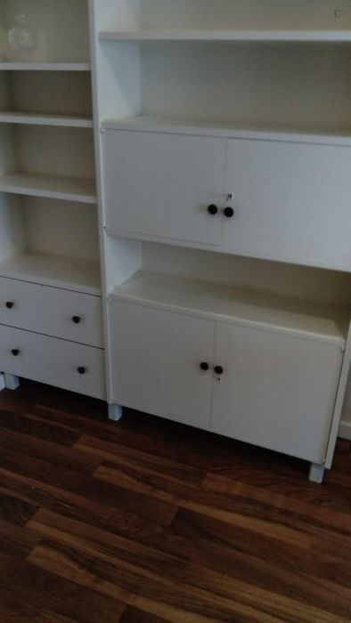 Neat bedroom with single bed in 4 bedroom apartment in Alameda